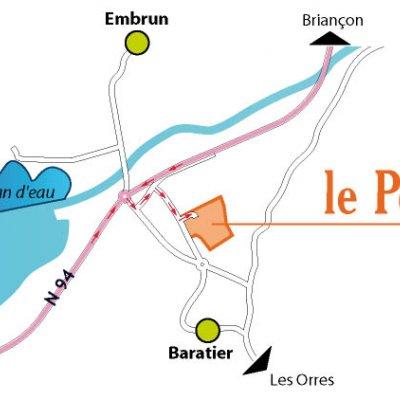 carte du plan d'accès au camping